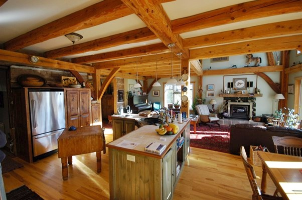 <b>Saint-Lazare, Quebec</b><br>Timber framed country kitchen