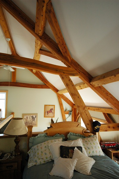 <b>Saint-Lazare, Quebec</b><br>Timber framed sleeping loft
