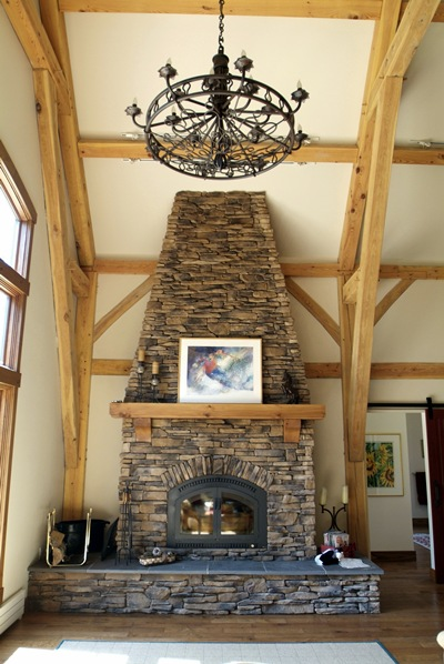 <b>Jay Peak, Vermont</b><br>Great room and fireplace