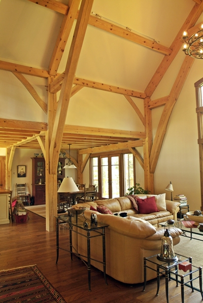<b>Jay Peak, Vermont</b><br>Timber frame great room