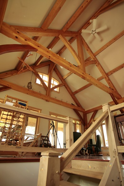 <b>Ottawa, Ontario</b><br>Timber frame dining room with king post trusses