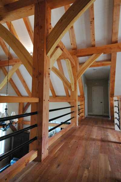 <b>Chelsea, Quebec</b><br>Timber framed mezzanine loft