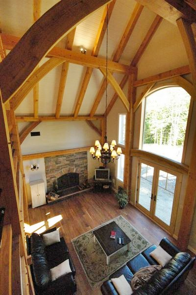 <b>Chelsea, Quebec</b><br>Timber frame great room