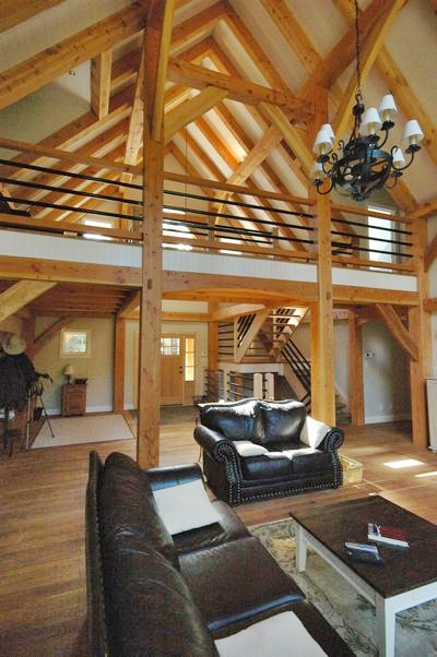 <b>Chelsea, Quebec</b><br>Timber framed loft