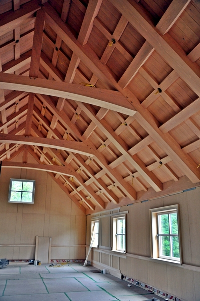 <b>Georgeville, Quebec</b><br>Dry spruce timber roof