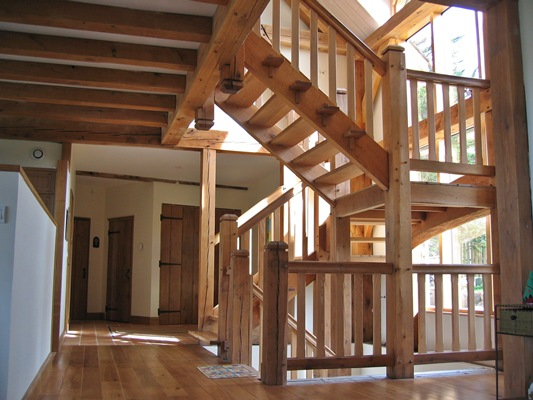 <b>Brittany, France</b><br>Oak timber framed staircase