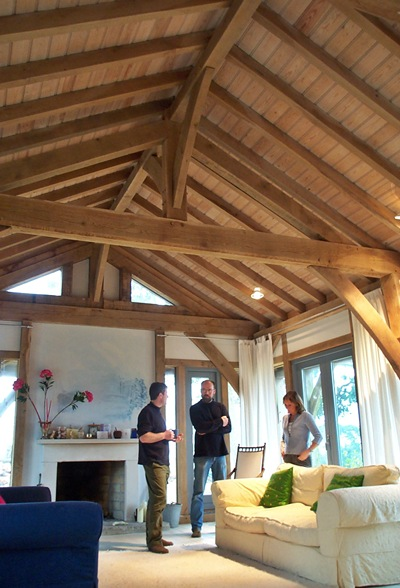 <b>England, UK</b><br>Timber framed living room, built while employed by Carpenter Oak & Woodland Co.